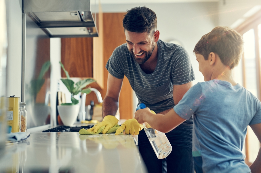 Sanitizing the surfaces in your home
