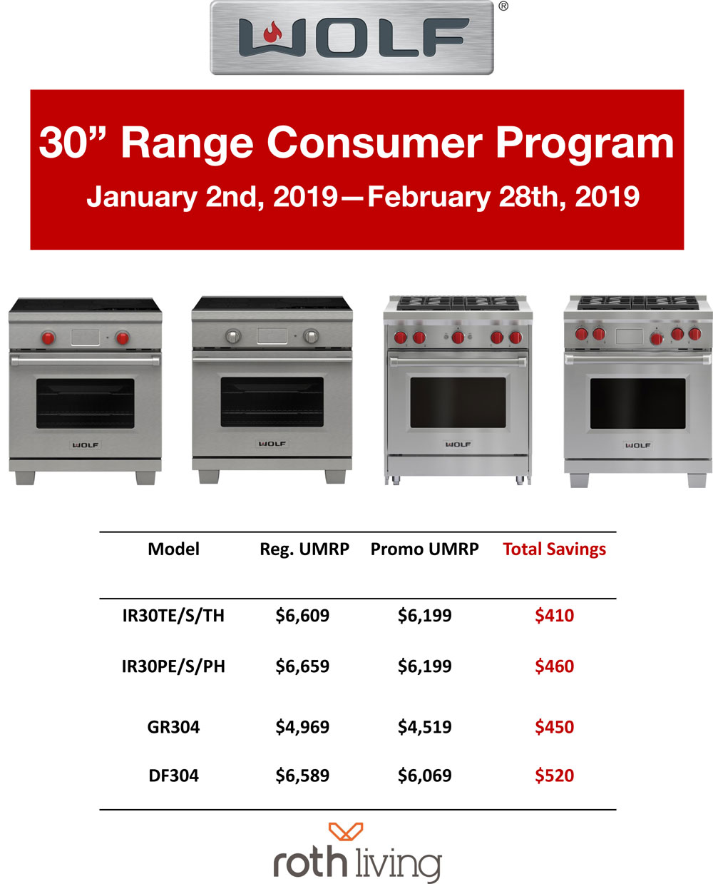 wolf oven promotion