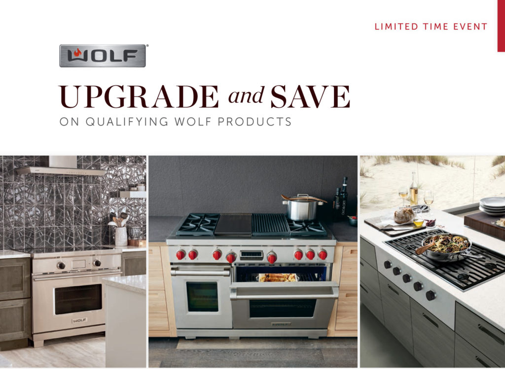 wolf appliance upgrade bonus rebate