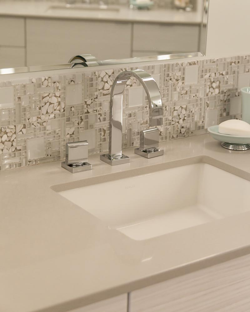 white sink tile backsplash