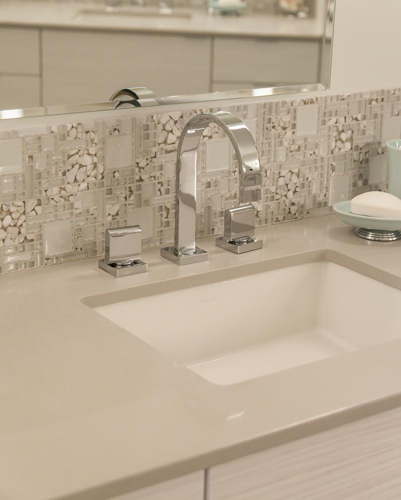 white sink tile backsplash