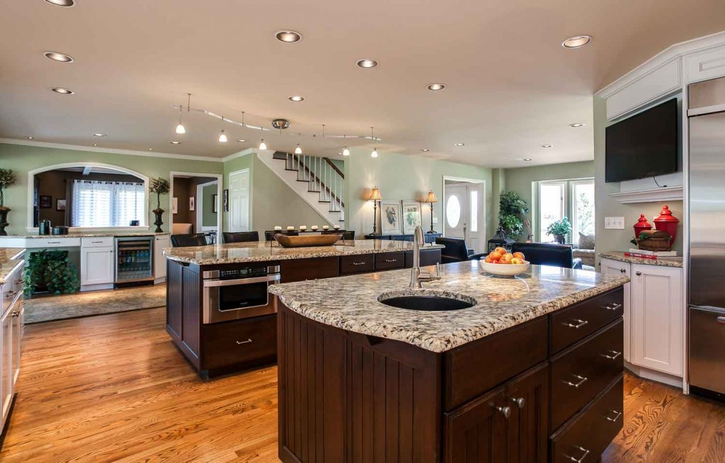 Denver Homeowner Must Haves in their kitchen great room renovation project. Lots of Countertop space is number 1 on the list