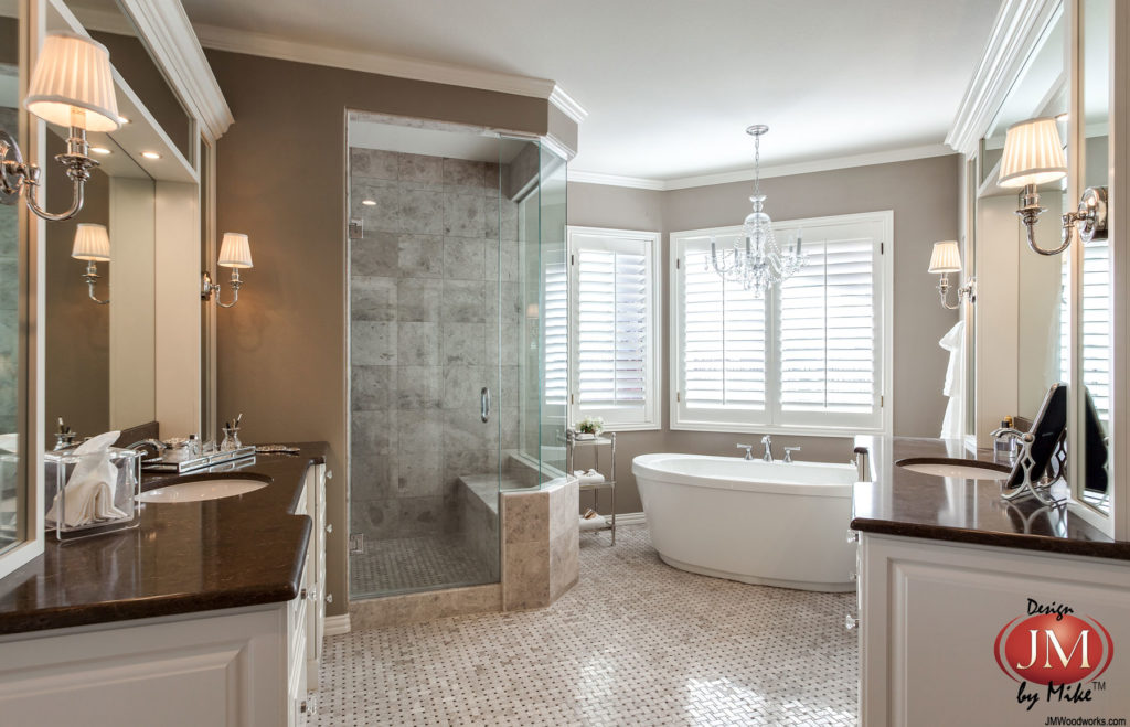 gorgeous master bath in greenwood village colorado