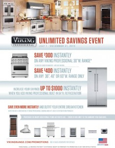 Viking Professional Appliance Unlimited Savings Event