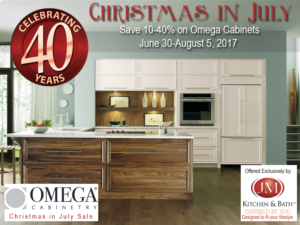 Christmas in July Omega Cabinet Sale! Up to 40% Off