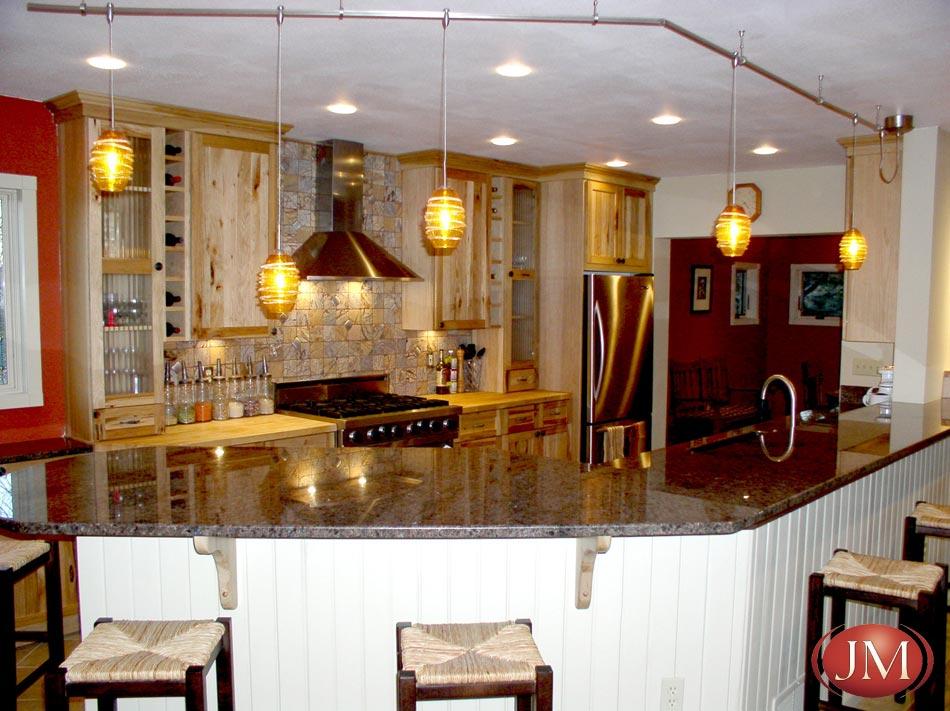 Distressed wood colorado rustic kitchen design by JM