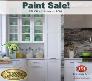 5 percent off on Painted Cabinets from Crystal Keyline & Encore