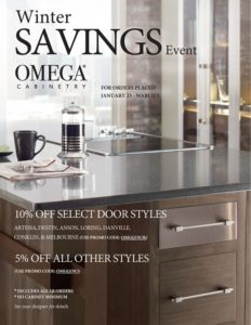 Omega Cabinets Winter of Savings Limited Offer