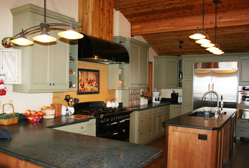 Painted wood cabinets custom kitchen