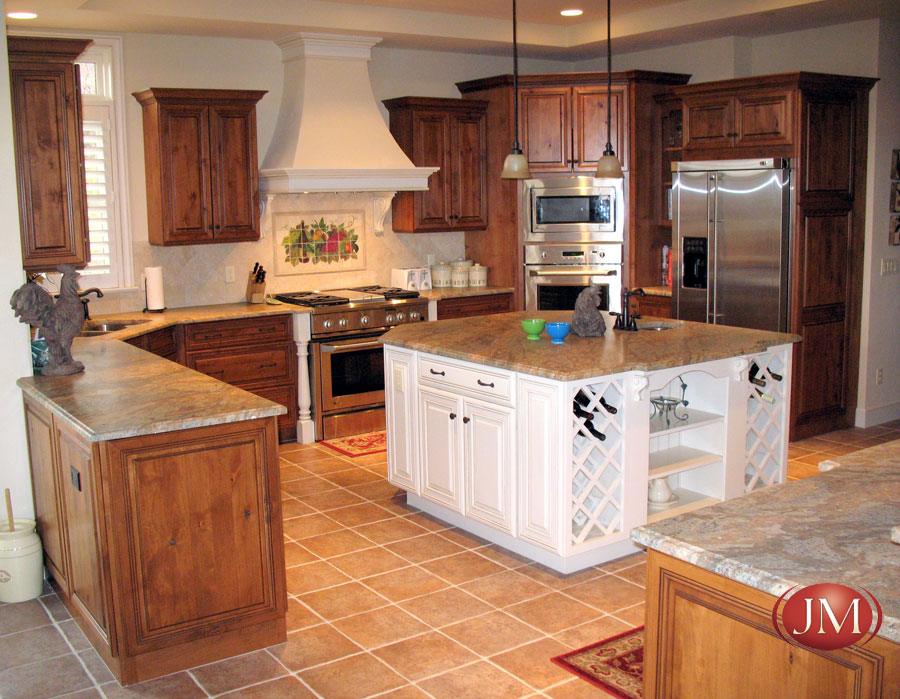 White and Oak Traditional Kitchen Design in Denver